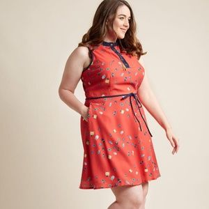 Modcloth Field Questions A-Line Dress in Bug Print